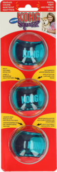 Kong Squeezz Action Red Small 5cm 3er Pack